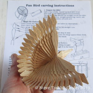 how to fan bird instructions