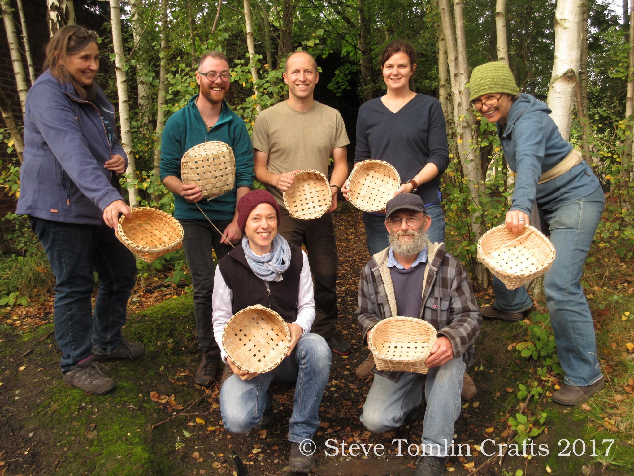 pounded ash splint basket making course UK